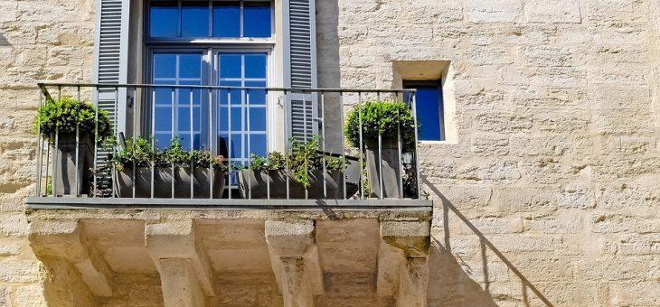 Balkon bez śladu rdzy